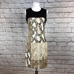 NWT Tahari Nuria Snake Print Sheath Dress
